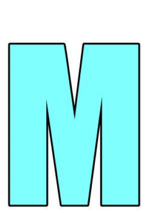 la lettre M sur leglob-journa, emblématique du département de la Mayenne