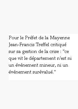 une citation du préfet de la Mayenne