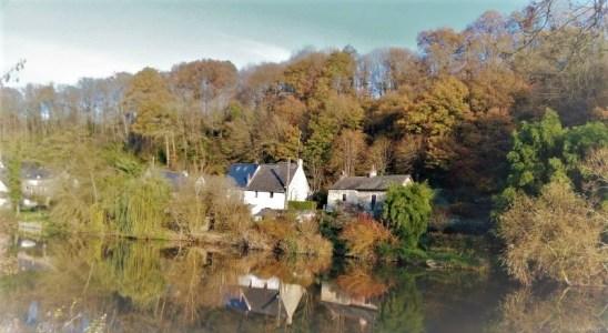 Une berge de la rivière Mayenne