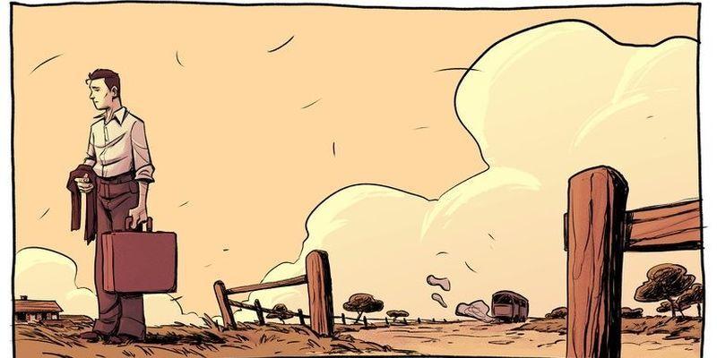 L'une des illustrations de la BD de l'Algérie a la Mayenne