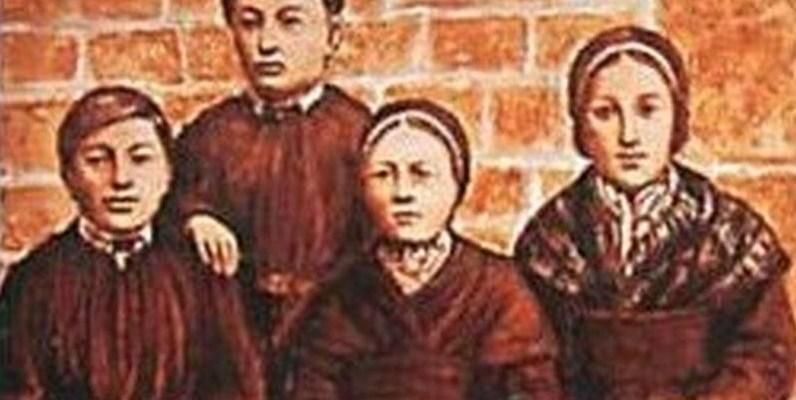 Les quatre voyants de la Vierge à Pontmain en Mayenne