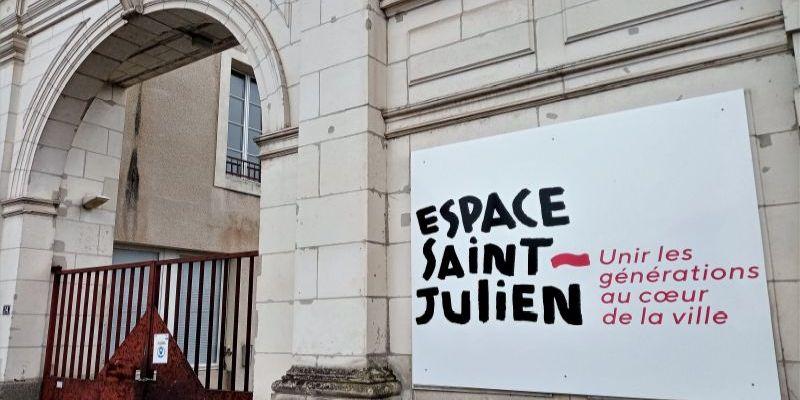 L'entrée de l'Espace Saint-Julien à Laval