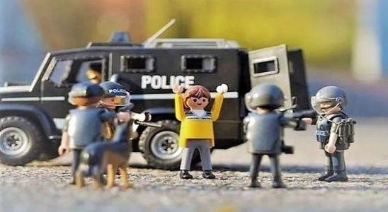 La police en Lego pour un Logo