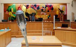 La salle d'audience correctionnelle à Laval