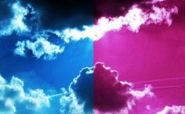 Un ciel bicolore obscurci de nuages...