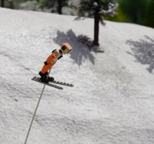 レゴブロックで作られたスキージャンプ
