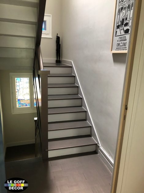cage escalier et escalier