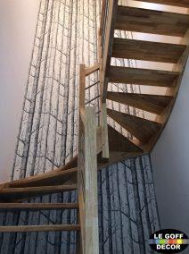papier peint cage escalier