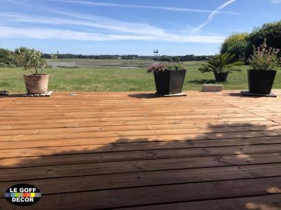 terrasse bois huilée