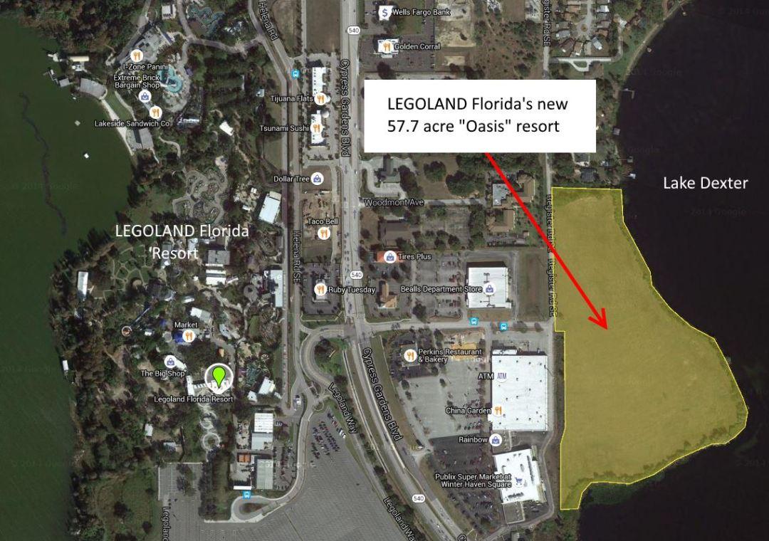 LEGOLAND Florida Project Oasis Location