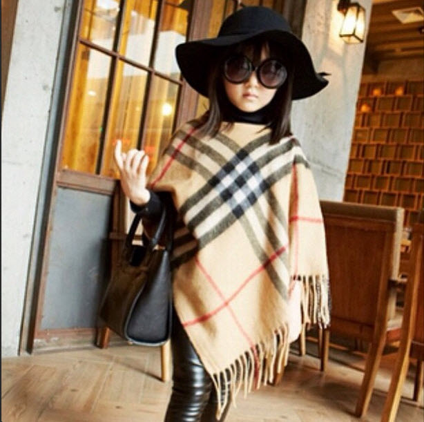 Modern Child - Burberry Plaid Cape for Girls