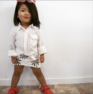 Ollie Jones - High Low Toddler Palm Tree Skirt