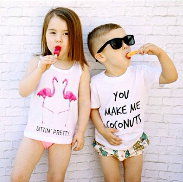SugarPlumLane - You Make Me Coconuts Toddler Tee Shirt