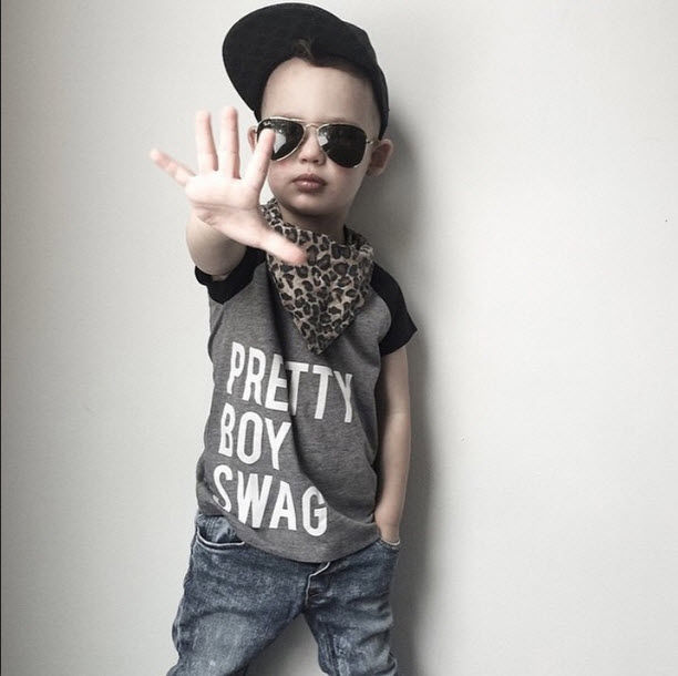 Trilogy Design Co - Pretty Boy Swag Kids Tee Shirt