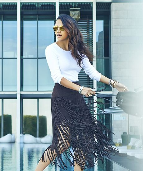 black-fringe-skirt