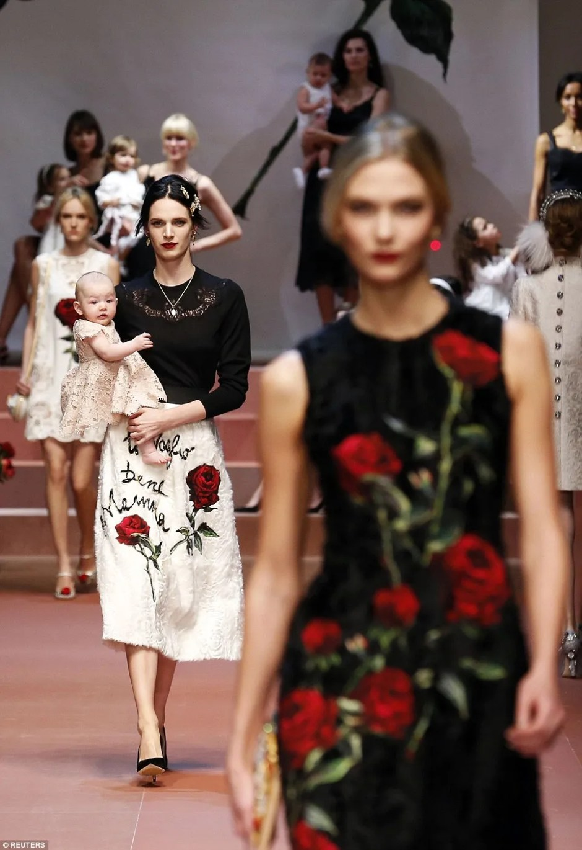 Dolce & Gabbana Mother on Runway
