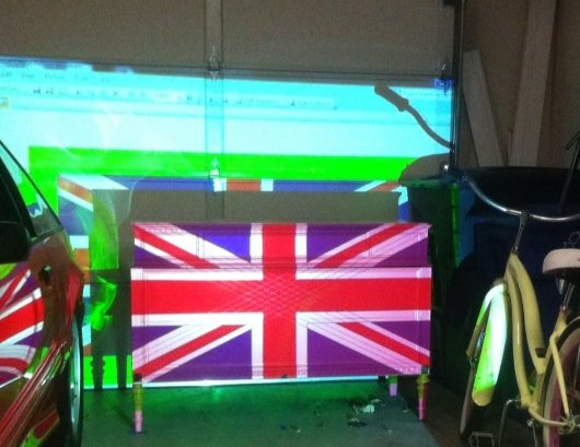 union jack projector
