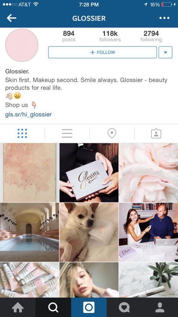 glossier-instagram