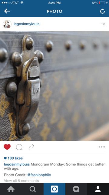 vintage louis vuitton trunk fashionphile instagram
