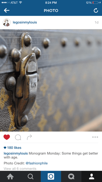 vintage louis vuitton trunk fashionphile instagram