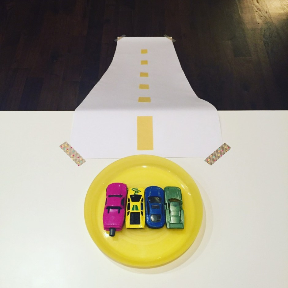 toddler rainy day car ramp