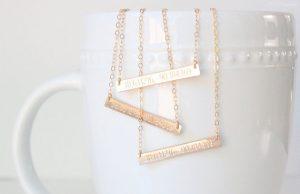 creative bar jewelry - coordinates necklace - etsy