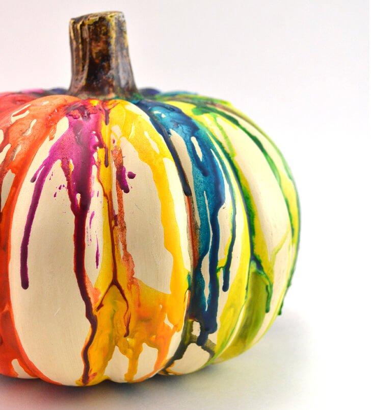 preschool-halloween-craft-melted-crayon-pumpkin