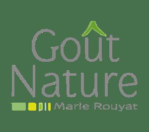 Logo de l'entreprise Goût Nature spécialisée en naturopathie en Touraine et créé par Marie Rouyat.