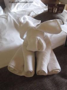 Pliage serviette de toilette - animal