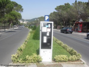 Parcmetre sur Obala Portoroz - Slovénie