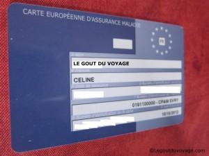 Carte européenne d'assurance maladie