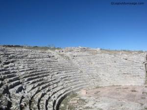 Gradins du théâtre - Yacimiento Acinipo