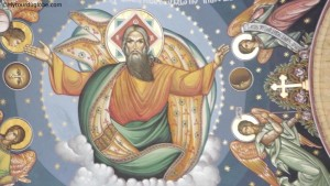 Plafond d'une église orthodoxe