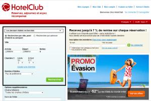 HotelClub.fr - Bloc recherche d'hôtels