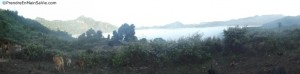 Au petit matin lors du Trek