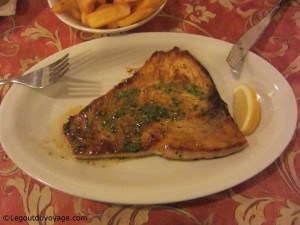 Steak d'espadon - Restaurant Fritolin - Portorož