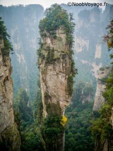 La montagne Halleluyah de Zhangjiajie
