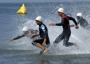 Compétition triathlon