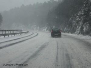 Autoroute slovène en hiver