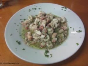Restaurant Bujol - Salade de poulpe