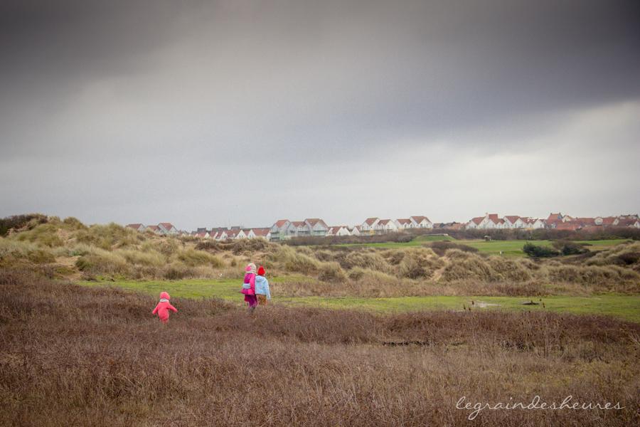 promenade dans les dunes de la Slack