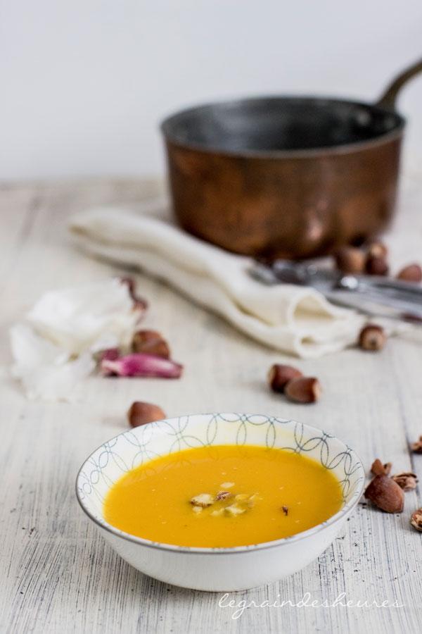 soupe potimarron noisette