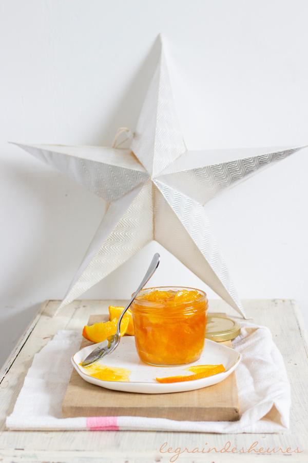 pot de marmelade d'oranges