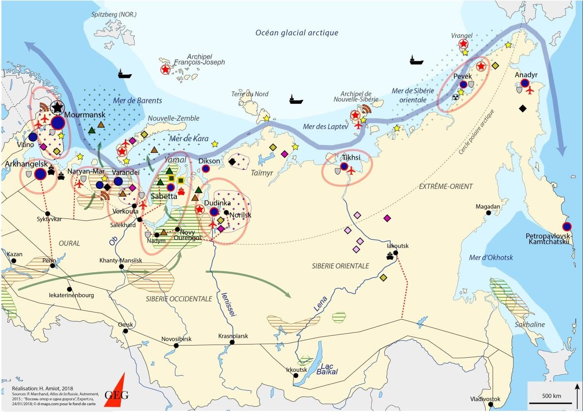 L'Arctique Russe en une carte