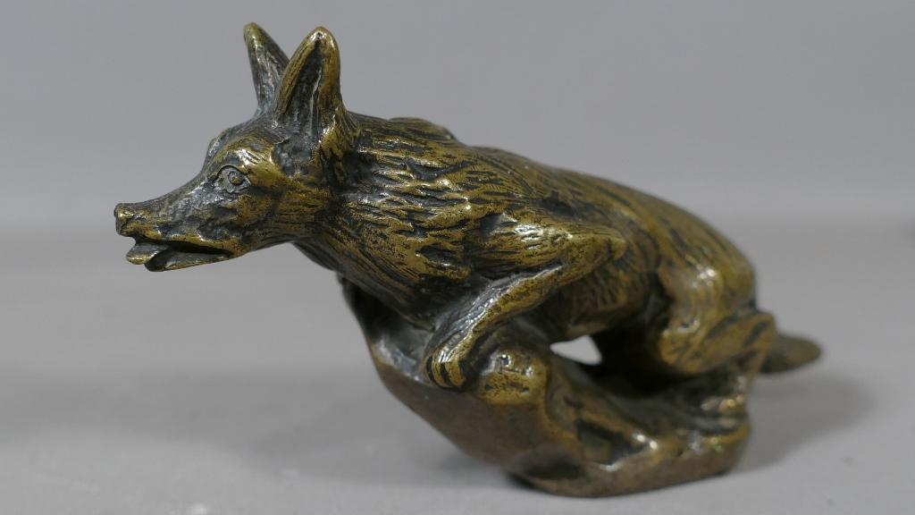 renard bronze animalier mascotte automobile signe hagen