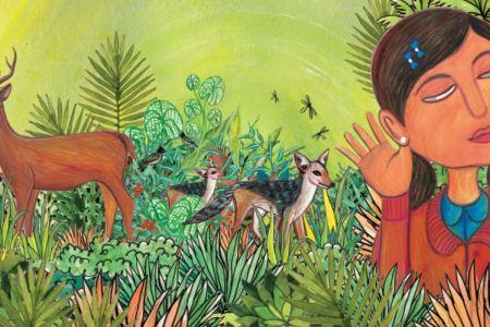 Illustration histoire pour apprendre les animaux