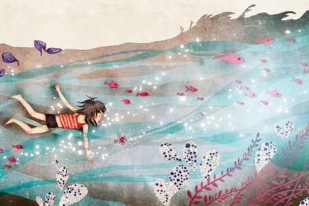 """Illustration de l' histoire courte """"Corail rêve d'océan"""""""