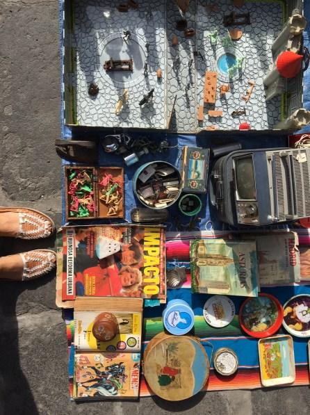Flea market in the Plazuela de los Sapos