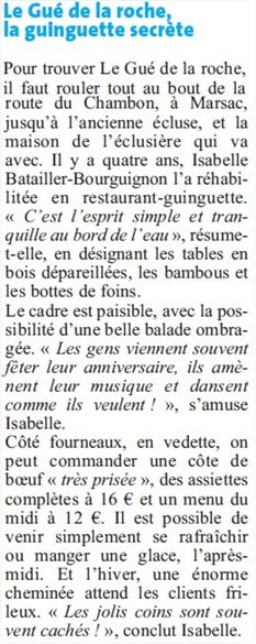 DL article Le Gué de la Roche