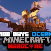 I Survived 100 Days of Hardcore Minecraft In A Modded Ocean Only World… Here's What Happened